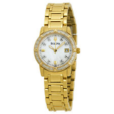 Bulova Women's 98R165 Gold Tone Diamond Case Watch