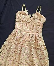 Unbranded Self Azaelea style Heavy Lace Yellow Party Dress Portrait size M