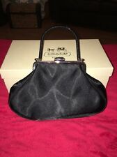 Preston & York Black Satin Evening Bag