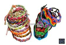 Lot 100 Mix Colorful Friendship Bracelets -Summer Festivals Party Bag -Stock UK