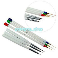 6pcs Tiny Acrylic Nail Art Tips Liner Painting Drawing Colorful Brush Pen Tool P