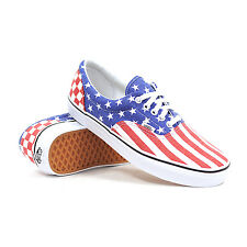 Vans Era Van Doren Stars Stripes Checker Red White Blue Mens Shoes 6.5 Women 8