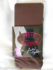STEVE MADDEN 2 Pairs Opaque Tights Black Chocolate - Size M/T BNWT