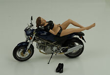 Sexy Photo Girl Model Nicole Figur Figurines 1:12 American Diorama no bike