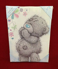 ME TO YOU BEAR TATTY TEDDY BLUE PRINTED CANVAS PICTURE GIFT