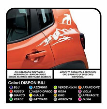 Adesivi per Jeep Renegade mountain and snowboard sticker decal aufkleber NEW
