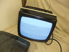 TV portable SANYO SUPER 12 vintage art instillation smoked cover working  RARE