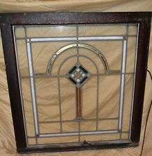 2 Chicago Arts and Crafts Stained Leaded Glass Windows MATCHING 28 BY 29 SET OLD