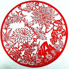 Chinese Folk Art Hand Made Paper Cut - Chrysanthemum AE599