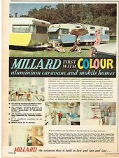Original MILLARD COLOUR CARAVANS  1968 Australian Vintage Print Advertising SSV