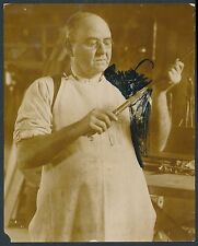 1915 G. E. WHALING,  FLY FISHING ROD MAKER Vintage Photo