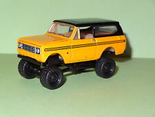 1978 INTERNATIONAL SCOUT II 4X4 OFF ROAD ORANGE 1/64 LIMITED EDITION RUBBER P
