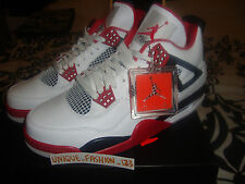 2012 NIKE AIR JORDAN RETRO 4 IV FIRE RED US 10.5 UK 9.5 EU 44.5 WHITE