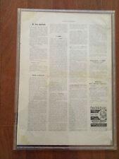 Italian Newspaper L'Abruzzo Letterario (20 Febbraio 1910) Rare & 100% Original