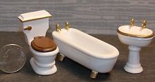 Dollhouse Miniature Bathroom Sink Toilet Tub 1:24 Half scale  G61 Dollys Gallery