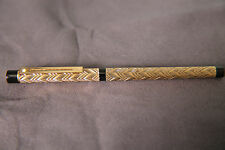 Sheaffer Targa Fountain Pen - Rare Brass feather design