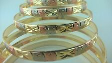 Gold Filled 7 Days bangle Bracelet 3 TONE Semanario de oro laminado (S to XL)
