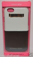 VICTORIA'S SECRET WHITE BLACK GOLD BOW IPHONE 6 HARD CASE SLEEVE CUTE HTF RARE