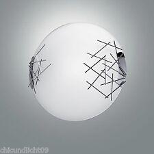 Fabas Luce Retrofit Plafonnier Bague à 2 lampes 2994-65-138 chrome / Opale blanc