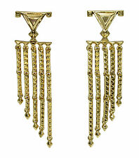 HOUSE OF HARLOW 1960 Pyramid Stud Triangle Gold-Tone Chandelier Earrings $68