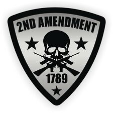 2nd Amendment Badge Hard Hat Sticker / Motorcycle Helmet Decal / USA Patriotic