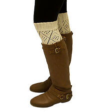 Over the Knee Thigh High Diamond Triangle Leg Warmers Winter Warm Long Lot New