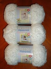 Bernat Pipsqueak Yarn Lot Of 3 Skeins (Whitey White #59005)