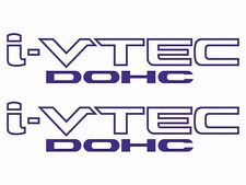 Honda I-Vtech DOHC Decal Stickers Set of 2 Civic Accord Prelude CRX SI Blue