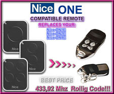 Nice ON1E, Nice ON2E,Nice ON4E Compatible Remote control Replacement 433,92MHz