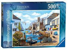 Ravensburger 14715 British Tranquil Harbour Colourful Jigsaw Puzzle 500 Pieces