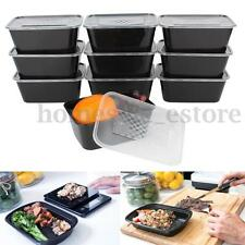 10pcs 38oz Prep Meal Microwavable Food Storage Containers Plastic Lunch Boxes