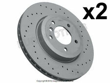 BMW e46 330 Brake Disc Front L+R (x2 rotors)  X DRILLED 325x25mm