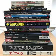 Comic Book 25+ TPB & HARD COVER HC LOT Batman Walking Dead Deadpool Flash X-men