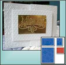 Sizzix Embossing Folders CHRISTMAS SET 655841 Holidays words snowflake folder