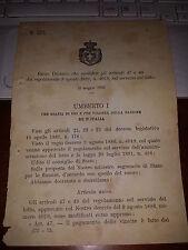 REGIO DECRETO 1892 mod art 47-49 regol 1886 # 4019 sul servizio LOTTO