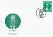 Estonia 2016 FDC Tonis Kint 1v Set Cover Politicians Presidents Stamps