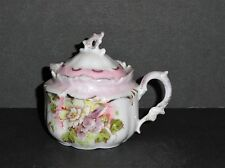 RS Prussia Mustard Pot - Floral Pattern