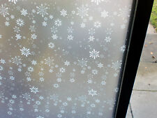 SNOWFLAKES FROSTED CHRISTMAS WINTER WINDOW FILM - 90cm x 1m Roll 9507