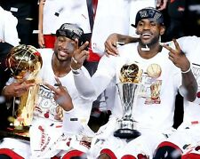 Dwyane Wade & Lebron James Miami Heat 2013 NBA Champions 8x10 Glossy Color Photo