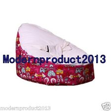 Freeshipping White&Red Baby infant Bean Bag Snuggle Bed  Without Filling