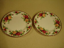 "ROYAL ALBERT ""OLD COUNTRY ROSES (2) 6"" BREAD & BUTTER PLATE"