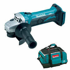 MAKITA 18V LXT DGA452 DGA452Z DGA452RFE ANGLE GRINDER AND 4 PIECE BAG