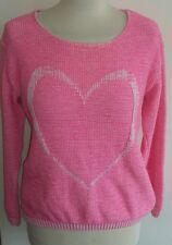 Pink love heart jumper size s/m