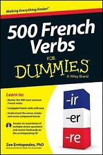 500 French Verbs for Dummies by Erotopoulos (2013, Paperback)