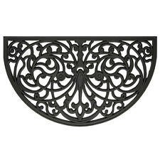 half moon circle round Thick RECYCLED RUBBER WELCOME Door Mat outdoor entry