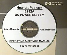 HP 6282A DC Power Supply Operating & Service Manual (good schmeatics)