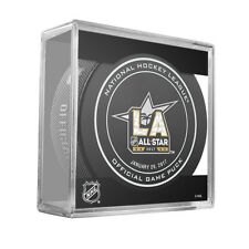 2017 NHL All Star Game Los Angeles Official On Ice Game Hockey Puck With Cube