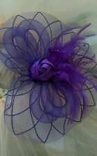 Fascinator Hat purple wedding facinator mauve hat wedding