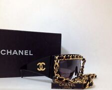 Chanel Chain Sunglasses Vintage Jumbo Ultra Rare