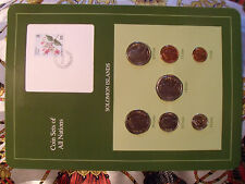 Coin sets of all Nations Solomon Islands w/card 1977-1988 UNC 5 cents 1980FM(U)